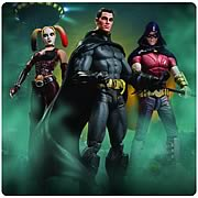 Arkham City Batman Harley Quinn Robin Action Figures
