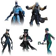 DC Direct Arkham City Action Figures Batman Detective Mode Hush Catwoman Mad Hatter Riddler
