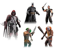 DC Direct Arkham City Series 3 Azrael Batman Ras Al Ghul Clown Thug Action Figures