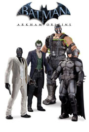 DC Direct Arkham Origins Series 1 Batman Joker Black Mask Bane Action Figure