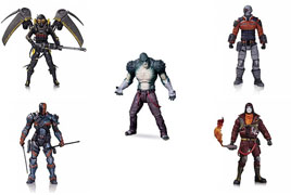 DC Direct Arkham Origins Series 2 Anarky Deathstroke Deadshot Firefly Killer Croc Action Figure