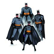 DC Direct Batman 75th Anniversary Set 1 4 Pack Action Figure Set Jim Lee 1st Appearance New Frontier Arkham Origin