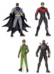 DC Direct Designer Series 1 Greg Capullo Batman Nightwing The Riddler Talon Action Figures