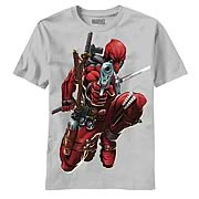Deadpool Brace Yourself Silver T-shirt