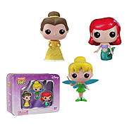 Funko Pocket Pop Mini Vinyl 3 Pack Disney Princess Belle Ariel Tinker Bell Figure
