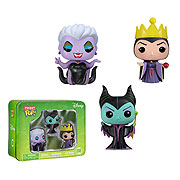 Funko Pocket Pop Mini Vinyl 3 Pack Disney Villains Ursala Evil Queen  Malificent Figure