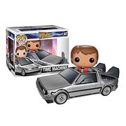 Funko Pop Vinyl Back to the Future Delorean and Marty Mcfly Figure