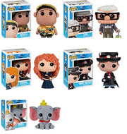 Funko Pop Disney Up Russel Carl Brave Merida Mary Poppins Dumbo