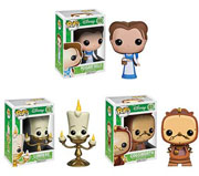 Funko Pop Vinyl Beauty and the Beast Peasant Belle Cogsworth Lumiere Figure