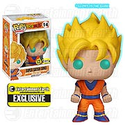 Funko Pop Vinyl Dragon Ball Z Super Saiyan Figure Glow in the Dark Entertainment Earth Exclusive