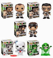Funko Pop Vinyl Ghostbusters Peter Venkman Ray Stantz Egon Spengler Stay Puff Marshmellow Man Slimer