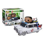 Funko Pop Vinyl Ghostbusters Winston Zeddmore and Ecto 1 Vehicle