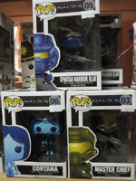 Funko Pop Vinyl Figure Halo Master Chief Blue Spartan Cortana