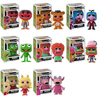 Muppets Pop Vinyl Animal Fozzie Bear Gonzo Kermit The Frog Mahna Mahna Dr. Teeth Miss Piggy Snowth
