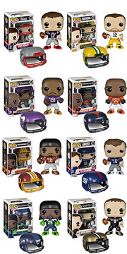 Funko Pop NFL Drew Brees Aaron Rodgers Demarcus Ware Eli Manning Richard Sherman Adrian Peterson Richard Griffin III Tom Brady Figure