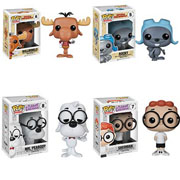 Funko Pop Vinyl Rocky and Bullwinkle Sherman and Mr Peabody Figure