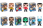 Funko Pop Vinyl Star Trek Andorian Captain Kirk Klingon Orion Slave Girl Scotty Spock Figure