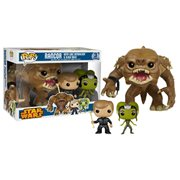 Funko Pop Vinyl Star Wars Previews Exclusive Rancor Luke Skywalker Oola Slave Girl Figure