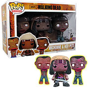 Funko Pop Vinyl Previews Exclusive Walking Dead Michonne and Pet Zombies 3 Pack