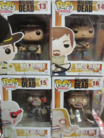 Funko Pop Vinyl Walking Dead Rick Grimes Daryl Dixon RV Zombie Bicycle Girl Zombie