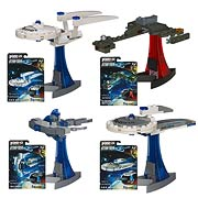 Hasbro Kreo Star Trek Micro Build Ships Enterprise Klingon Battlecruiser USS Kelvin Jellyfish
