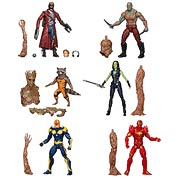 Hasbro Marvel Legends Guardians of the Galaxy Rocket Raccon Star Lord Gamora Drax Nova Iron Man Action Figures