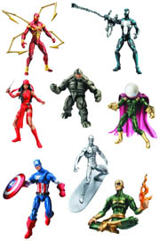 Hasbro Marvel Universe Series 5 Iron Spider-man Rhino Black Costume Spider-man Iron Fist Mysterio Elektra Captain America Silver Surfer Action Figure