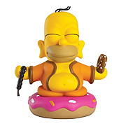 Kid Robot Simpsons Buddha Homer 3 Inch Mini Vinyl Figure
