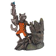 Kotobukiya Artfx+ Guardians of the Galaxy Rocket Raccoon and Groot Statue