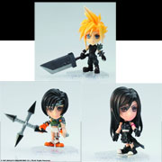 Kotobukiya Final Fantasy Kai Mini Trading Arts Figures Cloud Strife Final Fantasy VII Tifa Final Fantasy VII Advent Children Yuffie