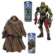 Mcfarlane Toys Halo 2014 Halo 4 Master Chief with Cloak and Halo 2 Anniversary Master Chief Action Figure
