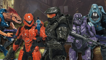 Mcfarlane Toys Halo 4 Series 2 Action Figures Master Chief with Cortana Spartan CIO Green Spartan CIO Purple Spartan Scout Orange Storm Jackal Elite Ranger