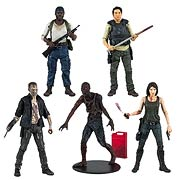 Mcfarlane Toys Walking Dead TV Series Series 5 Action Figure Glen Maggie Tyreese Merle Walker Charred Walker Action Figure