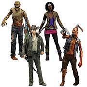Mcfarlane Walking Dead Series 1 Action Figures Officer Rick Grimes, Michonne, Zombie Lurker, Zombie Roamer