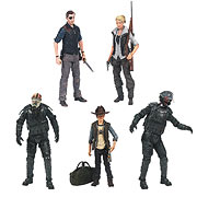 Mcfarlane Toys Walking Dead TV Series Action Figures Series 4 Andrea The Govenor Carl Grimes Riot Gear Zombie Riot Gear Gas Mask Zombie