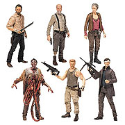 Mcfarlane Toys Walking Dead TV Series 6 Rick Grimes Abraham Ford Hershel Greene Carol Peletier Bungie Guts Zombie Governor with Long Coat Action Figure