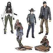 Mcfarlane Toys Walking Dead TV Series 7 Carl Grimes Michonne Gareth Mud Walker Zombie Action Figure
