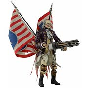 NECA Bioshock Infinite Benjamin Franklin Heavy Hitter Patriot Turret Acion Figure