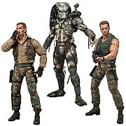 NECA Predators 25th Anniversary Series 8 Action Figure Jungle Extraction Dutch Masked Jungle Hunter Predator Jungle Patrol Dutch