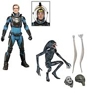 Prometheus Series 2 Action Figure David the android and the proto-xenomorph Deacon