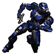 Play Arts Kai Halo Combat Evolved Blue Spartan Mark V Action Figure