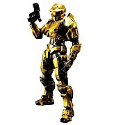 Play Arts Kai Halo Gold Spartan Action Figure