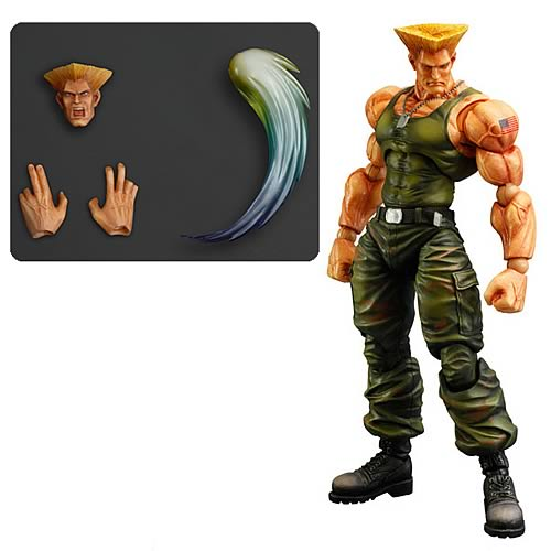 Square Enix Play Arts Super Street Fighter IV Guile Action Figure