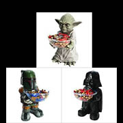 Star Wars Candy Bowl Holder Yoda Boba Fett Darth Vader